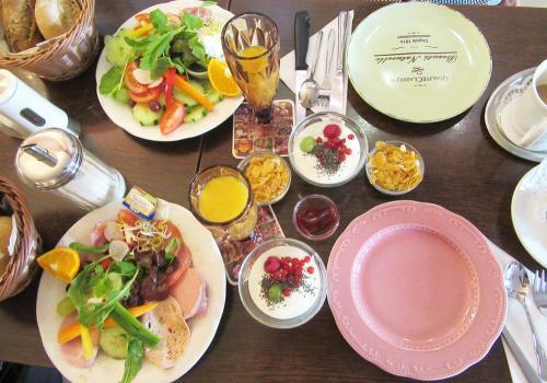 Café Beis: Frühstücksübersicht