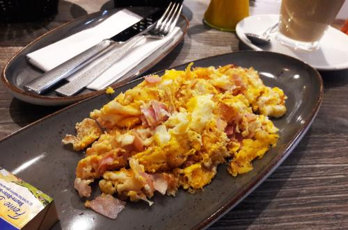Julias Café - so sieht das Rührei